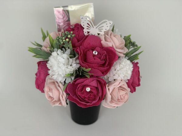 Artificial Peonies Grave Pot Flowers