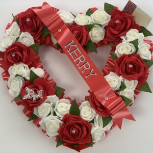 Artificial Silk Heart Wreath Extra Large