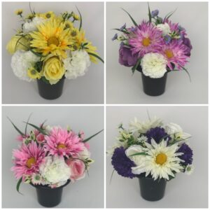 Daisy Grave Pot Flowers