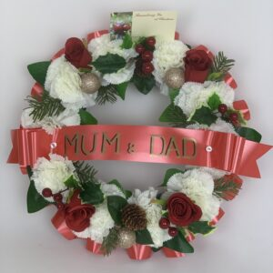 Artificial Christmas Carnation Funeral Wreath