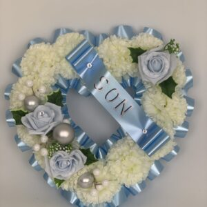 Artificial Christmas Heart Wreath