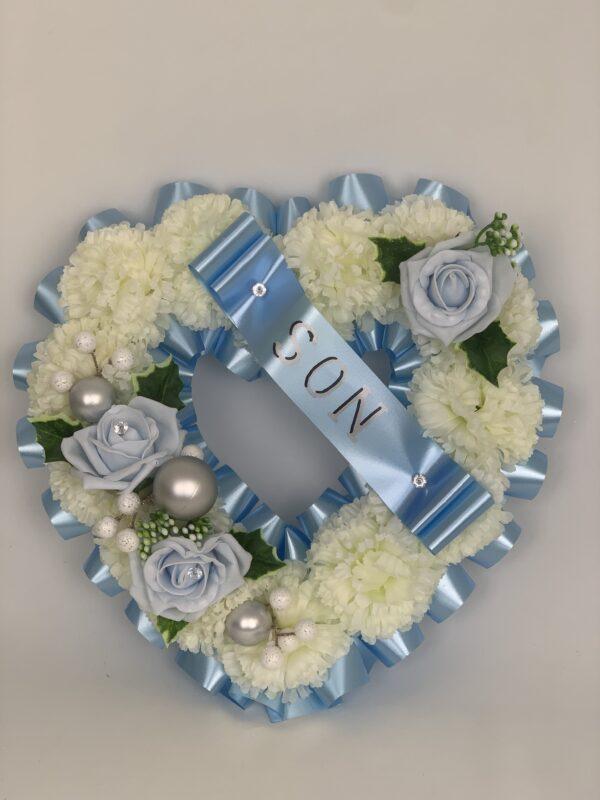 Artificial Christmas Heart Wreath