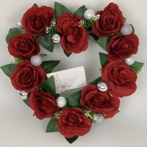 Heart Christmas Wreath Red