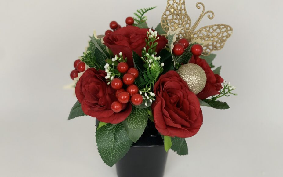 Artificial Christmas Grave Flowers